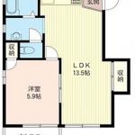 13.5帖LDK+6帖洋室。南向きの角部屋です☆