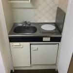 IHクッキングヒーター&ミニ冷蔵庫つき!(キッチン)