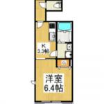 25.97㎡の1K(間取)